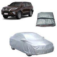 Trigcars Toyota Fortuner New Car Body Cover Silver With Mirror Pockets