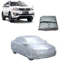 Trigcars Toyota Fortuner Old Car Body Cover Silver With Mirror Pockets