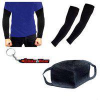 1 Arm Sleeve-black. 1 Pollution Mask-black 1 Bikenwear Keyring Combo