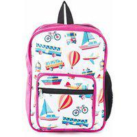 The Yellow Jersey Company (yjc) Travel Theme (pink) School Bag (14 Inches)