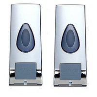 Prsetige Drop Color High Quality Abs 360 Ml Soap Dispenser- Pack Of 2