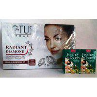 Lotus Herbals Radiant Diamond Facial Kit With Hair Removal Cream Combo