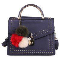 Elprine Pom Pom Blue Designer Sling Bag For Women