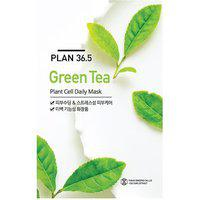 Plan36.5 Cell Daily Face Mask Sheet Green Tea 10 plus 10 Sheets
