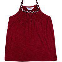 Ventra Girls Brided Top Burgundy