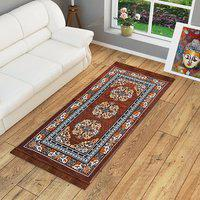 Brown Motif Jute 3 X 5 Feet Machine Made Carpet By Azaani