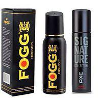 Axe Signature And Fogg Fresh Deo Deodorants Body Spray For Men Pack Of 2 Pcs