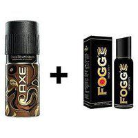 Axe And Fogg Black Collection Deo Deodorants Body Spray For Men - Pack Of 2 Pcs
