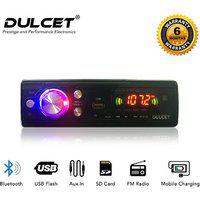 Dulcet Fixed Panel Single Din Mp3 Bluetooth/usb/fm/aux/mmc Car Stereo With Premium 3.5mm Aux Cable Dc-a-4005 Car Stereo