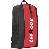 Bg02red Leerooy Nylon 24 Ltr Black Gym Bag Backpack For Boys