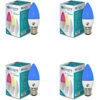Swara B22 3w Blue Candle Led Bulb - Pack Of 4