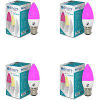 Swara B22 3w Pink Candle Led Bulb - Pack Of 4