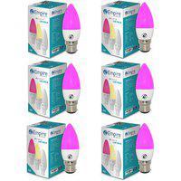 Swara B22 3w Pink Candle Led Bulb - Pack Of 6