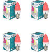 Swara B22 3w Red Candle Led Bulb - Pack Of 4