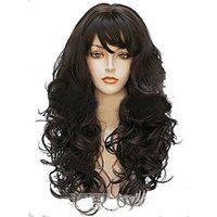 Param 100 Original Feeling Hair Wig Curly Long Full Wigs Black Synthetic 501l Ht3