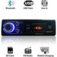 Dulcet Dc-st-8080 Fixed Panel Single Din Mp3 Bluetooth/usb/fm/aux/mmc Car Stereo With Premium 3.5mm Aux Cable