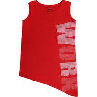 Ventra Girls Work Top Red