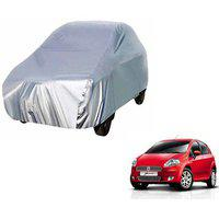 Gromaa Silver Water Resistant Car Body Cover For Fiat Punto