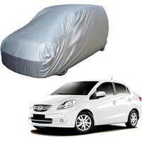 Gromaa Silver Water Resistant Car Body Cover For Honda Amaze