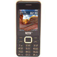 Mtr Bullet Dual Sim Mobile Phone With 2.4 Inch Display With Powerful Boom Speaker With Light Black