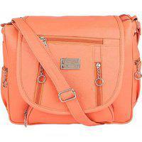 Bizarre Vogue Stylish Sling Bags For Girls (peach Bv1101)
