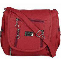Bizarre Vogue Stylish Party Wear Sling Bags For Girls (maroon Bv994)