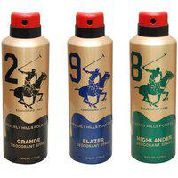 Beverly Hills Polo Club Gold Edition Men Deodorants - Pack Of 3(175ml Each)(flavours May Vary)