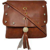 Rish Fancy Sling Bag - Brown