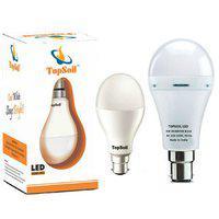 Topsoil Emergency Led Bulb ( Backup Upto 4 Hours) With Free Normal 9 Watt Led Bulb