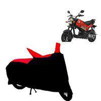 Abp Premium Red With Black-matty Bike Body Cover For Honda Navi
