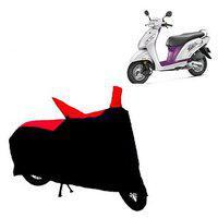 Abp Premium Red With Black-matty Bike Body Cover For Honda Activa I