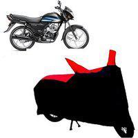 Abp Premium Red With Black-matty Bike Body Cover For Honda Cd 110 Dream