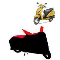 Abp Premium Red With Black-matty Bike Body Cover For Honda Activa 5g