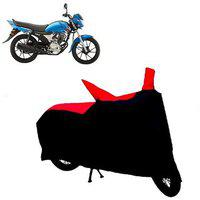 Abp Premium Red With Black-matty Bike Body Cover For Yamaha Saluto Rx