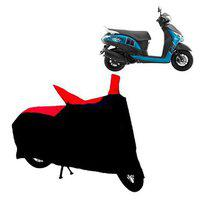 Abp Premium Red With Black-matty Bike Body Cover For Yamaha Alpha