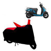 Abp Premium Red With Black-matty Bike Body Cover For Yamaha Fascino