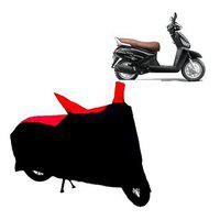 Abp Premium Red With Black-matty Bike Body Cover For Mahindra Gusto