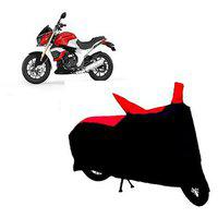 Abp Premium Red With Black-matty Bike Body Cover For Mahindra Mojo