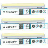 Ecoearth Lumnea 6 Watt 1 Feet Led Tubelight (pack Of 3 Golden/yellow) - Warm White