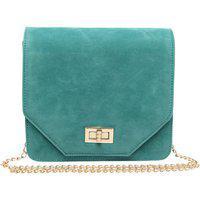 Bagstopia Green Suede Sling Bag