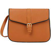 Bagstopia Piping Tan Sling Bag