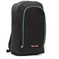 Leerooy Canvas 19 Ltr Black Messenger Bag Backpack For Women