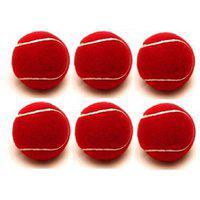 Tahiro Red Cricket Ball - Pack Of 6