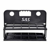 Sas Set Of 10 Water Bottles And Carrier For Team Yoga Gyming Fitness Cycling -white Color Bottles Foldable Bottle Carri