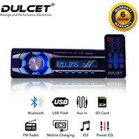 Dulcet Dc-1199d Detachable Panel Single Din Mp3 Car Stereo With Usb Bluetooth Dongle For Wireless Music Premium 3.5mm