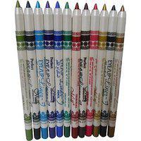 Menow Perfect Pro Eyeliner Eyeshadow Lip Liner Waterproof Glitter Makeup Pen-12 Color 1set 100 Genuine Product
