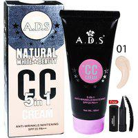 Ads Natural White Skin Beauty 5in1 Cc Cream-a1678-01 With Free Adbeni Kajal