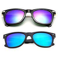 Meia Combo Pack Of 2 Stylish Branded Sunglasses For Men Women Boys Girls (bigbblue-blueway 48 Blue) - 2 Sunglass