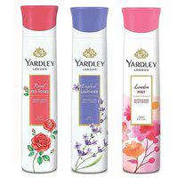 Yardley Deodorants Women Pack-3