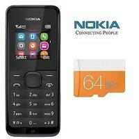 Nokia 105 / Good Condition/ Certified Pre Owned (1 Year Warranty) With 64gb Memory Card